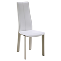 Allisone White Modern Dining Chair