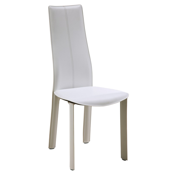Allison White Modern Dining Chair