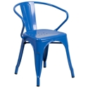 Ally Modern Industrial Dining Chair in Blue