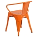 Ally Modern Industrial Dining Chair in Orange - Back View