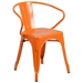 Ally Modern Industrial Dining Chair in Orange