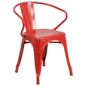 Ally Modern Industrial Dining Chair in Red