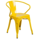 Ally Modern Industrial Dining Chair in Yellow