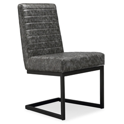 Almiro Gray Faux Leather Vintage Modern Contemporary Chair