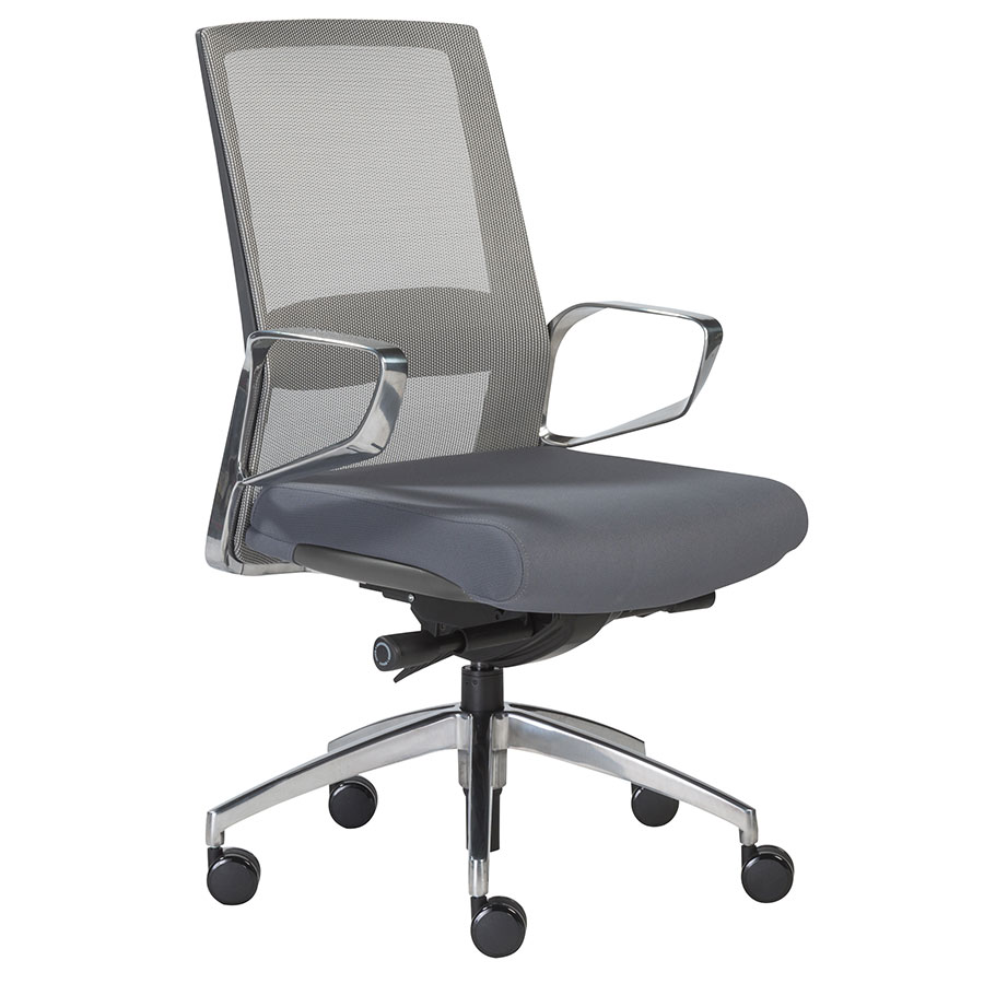 Avis Gray Modern Mid Back Office Chair