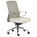 Avis White Modern Mid Back Office Chair