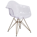 Altamont Modern Clear + Gold Arm Chair