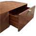 Altima Contemporary Walnut Coffee Table Drawers