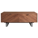 Altima American Walnut + Stainless Steel Modern Coffee Table