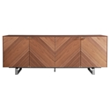 Altima American Walnut + Stainless Steel Modern Sideboard