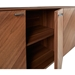 Altima Walnut + Stainless Steel Modern Buffet