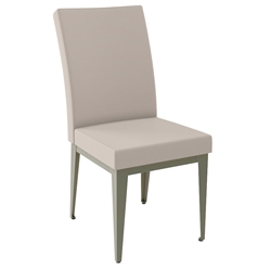 Alto Modern Dining Chair in Titanium + Oyster by Amisco