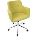 Alvis Modern Citrus Green Office Chair