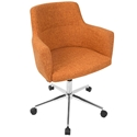 Alvis Modern Orange Office Chair