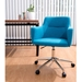 Alvis Teal Office Chair + Dresden Modern Desk