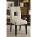 Alyssa Beige Contemporary Dining Chair