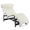Amaca Modern Classic Chaise Lounge in White