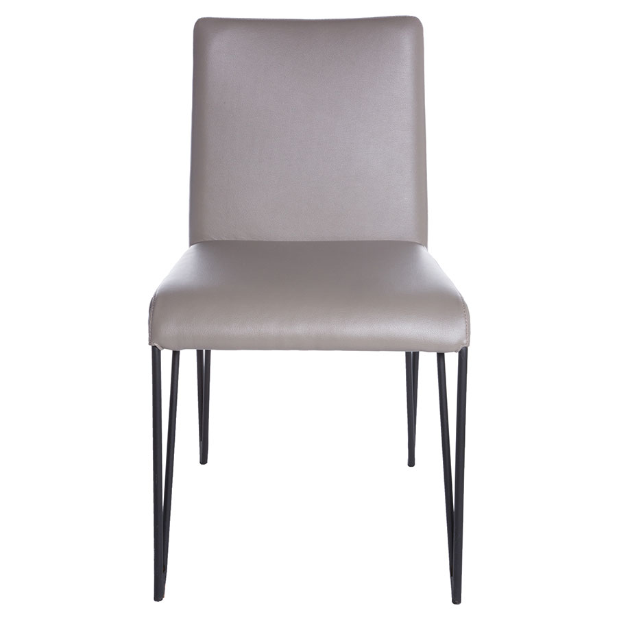 ... Amir Black Hairpin Metal + Taupe Faux Leather Contemporary Dining Side  Chair ...
