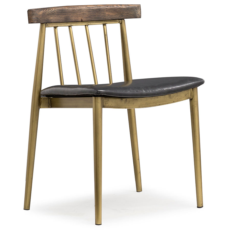 Amott Brushed Brass Dining Chair