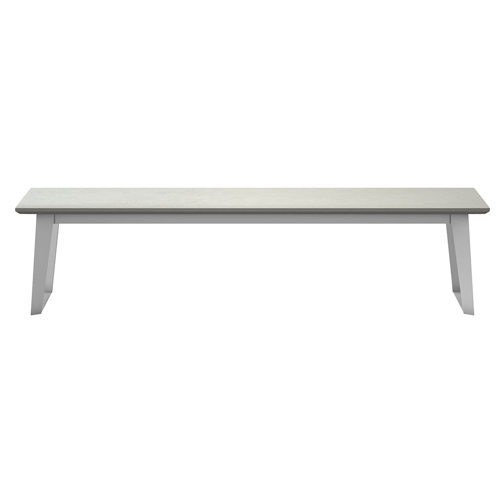 Modern Concrete Benches: Modloft Amsterdam Outdoor White Sand Concrete Modern Bench