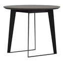 Modloft Amsterdam Gray Concrete + Black Steel Modern Cafe Dining Table