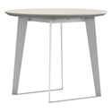 Modloft Amsterdam White Sand Concrete + White Steel Modern Cafe Dining Table