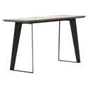 Modloft Amsterdam Gray Concrete Modern Console Table with Black Steel Base