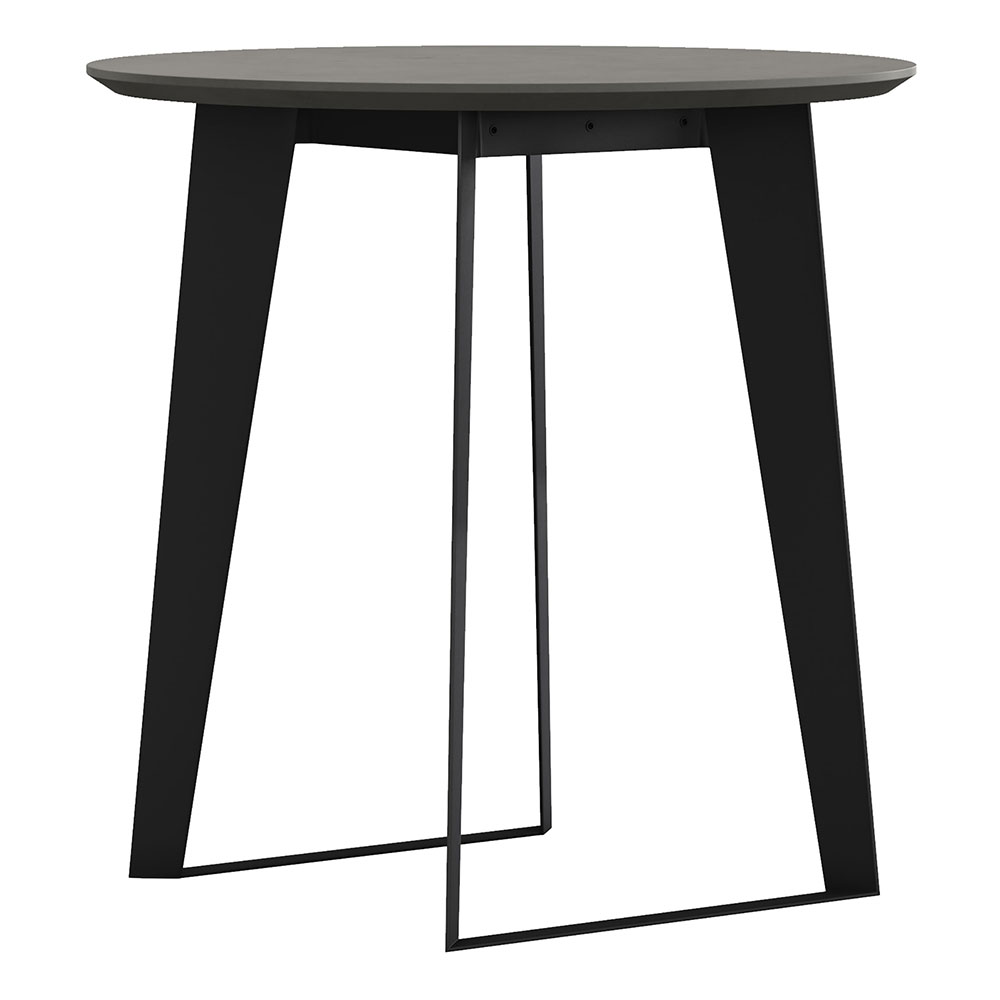 Modloft Amsterdam Modern Counter Table in Gray Concrete with Black Steel Base