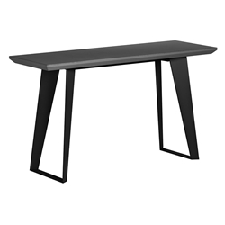 Modloft Amsterdam Gray Concrete + Black Steel Modern Desk Return