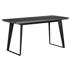 Modloft Amsterdam Gray Concrete + Black Steel Modern Desk