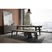 Modloft Amsterdam Gray Concrete Modern Dining Table with Black Steel Base - Room Shot