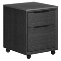Modloft Amsterdam Gray Concrete + Gray Italian Oak Modern Mobile File Cabinet
