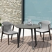 Modloft Amsterdam Outdoor Gray Concrete + Balck Steel Modern Cafe Dining Table - Lifestyle