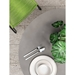 Modloft Amsterdam Outdoor Gray Concrete + Balck Steel Modern Cafe Dining Table - Lifestyle Above View