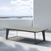 Modloft Amsterdam Gray Concrete Outdoor Modern Coffee Table with Black Steel Base - Lifestyle
