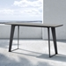 Modloft Amsterdam Outdoor Modern Gray Concrete Console Table with Black Steel Base - Lifestyle