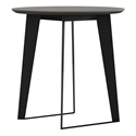 Modloft Amsterdam Modern Outdoor Counter Table in Gray Concrete with Black Steel Base
