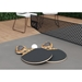 Amsterdam Outdoor Modern Ping Pong Table in Gray Concrete with Black Steel Base by Modloft Black - Paddles