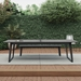 Amsterdam Outdoor Modern Ping Pong Table in Gray Concrete with Black Steel Base by Modloft Black - Lifestyle Side View