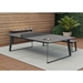 Amsterdam Outdoor Modern Ping Pong Table in Gray Concrete with Black Steel Base by Modloft Black - Lifestyle