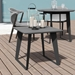 Modloft Amsterdam Gray Concrete Outdoor Modern Side Table with Black Steel Base - Lifestyle With Candles