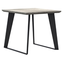 Modloft Amsterdam Gray Concrete Outdoor Modern Side Table with Black Steel Base
