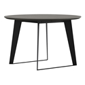 Modloft Amsterdam Round Modern Dining Table in Gray Concrete with Black Steel Base