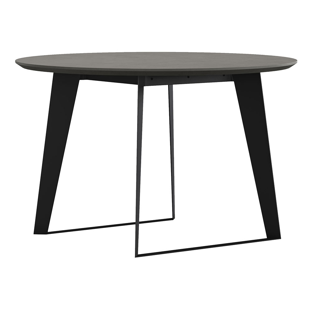 Amsterdam Round Dining Table Gray Concrete