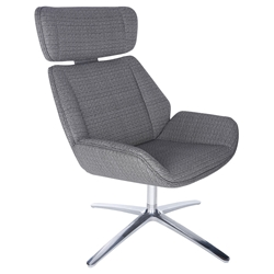 Ana Modern Gray Swivel Lounge Chair