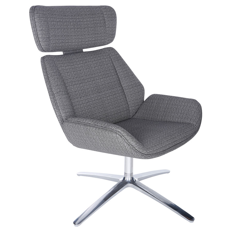 Ana Swivel Gray Lounge Chair By Euro Style Eurway
