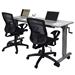 Anaheim 60 Inch Modern Adjustable Height Desk - Seated Position