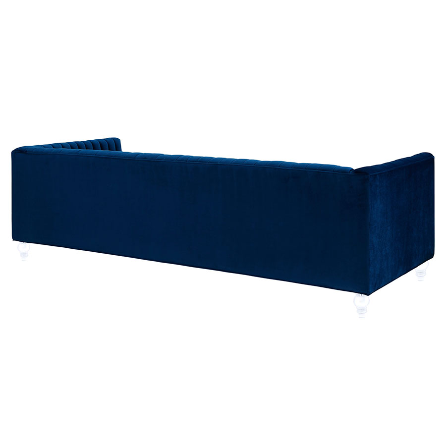 Velvet Modern Sofa Gus Margot Midnight