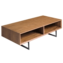 Anderson Modern Walnut Coffee Table by Euro Style