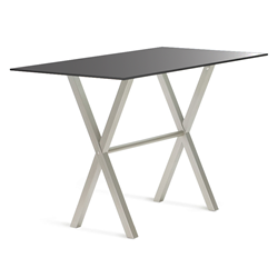 Andreas Black Glass + Metal Modern Bar Height Table